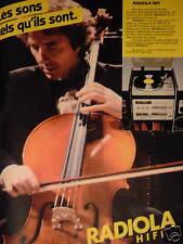 PUBLICITÉ 1981 RADIOLA HIFI LES SONS TELS QU'ILS SONT - ADVERTISING