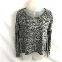 American Eagle Outfitters Soft & Sexy Women's Top Small Black Gray Pullover