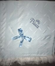 BEAUTIFUL BLUE 💙baby Boys shawl**with Blue Diamanté Crown With Prince 💙