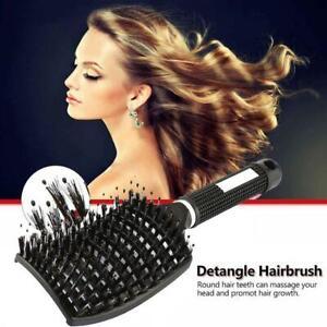 Detangling Nylon Bristle Hair Women Men Styling Hair Brush Massage Comb Any Hair