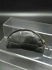 Mulberry Small Zip Coin Purse in Black Congo Leather