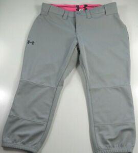 Under Armour UA Womens Gray Baseball Softball Pants Small #345