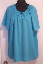 Aqua Maggie Barnes Sz 0X (14-16)  Short-Sleeve Smocked Top 405a