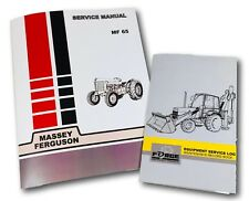 Massey Ferguson 65 Tractor Service Repair Manual & Maintenance Log