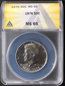 1976 50C Kennedy Half Dollar ANACS MS66         7148256
