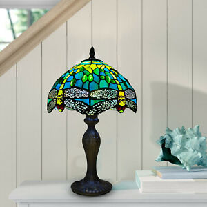 Tiffany Dragonfly Style 10 inch Table Lamp Beautiful Handcrafted Design Shade