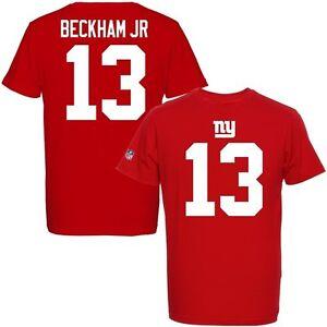 NFL T-Shirt New York Giants Odell Beckham Jr 13 Jersey Receiver Red Football