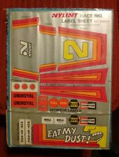 Stickers, Decals & Iron-ons Vintage Nylint Race Rig Label Sheet Truck Decal Set No.33a017