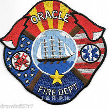 """Oracle Fire Dept., Arizona (4"""" x 4"""" size) fire patch"""