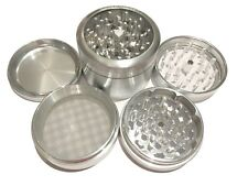 "Sharpstone Classic 2.5"" Inch Clear Top Herb Tobacco Large Grinder 4pc + Extras"