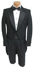 Men's Black Raffinati Tuxedo Tailcoat with Pants Formal Wedding Prom Mason 40R