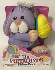 1988 Fisher Price Easter Puffalumps Purple Bunny Egg In Box 8026