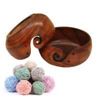 Useful Yarn Bowl Handmade Knitting Crochet Storage Organizer Wooden Bowl Holder