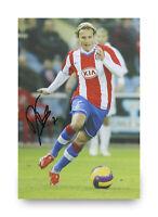 Diego Forlan Signed 12x8 Photo Atletico Madrid Autograph Memorabilia + COA