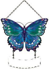 Joan Baker Designs, Hand Painted Suncatcher-SFS2001-Blue Butterfly, Art Glass
