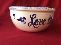 "LARGE VINTAGE STONEWARE POTTERY POPCORN BOWL -THATS ALL - 11"" X 5"""