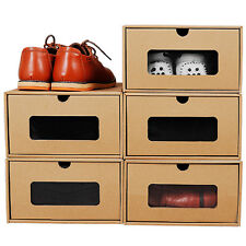 3 Pcs DIY CHILD SHOES STORAGE PAPER BOX UNDER BED SHOES ORGANISERS TIDY HOLDERS