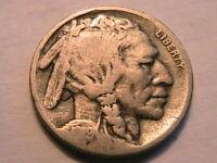"1919-S Buffalo Nickel ""G"" Good+ Original Grey Toned Indian Head 5 Cent USA Coin"