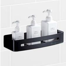 Matt Black Stainless Steel Square Shower Caddy Storage Holder Bath Shelf Layer