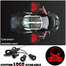 Respirator Gas Mask Biohazard Skull Logo Car Door Projector Ghost Shadow Lights