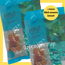 M&S Mint Toffees Chewy Sweets Classic Recipe 2x 225g Bags Marks Vegetarian