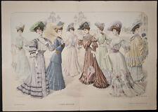 Goubaud - Fashionably Dressed Woman. 992-93 - 1904 Le Mode Artistique FOLIO