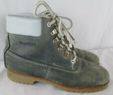 Vintage Dunham Leather Work Boots Womens 7 Gray Blue Made in Maine