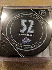 ADAM FOOTE  Official Retirement Puck  COLORADO AVALANCHE