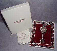 NIB Vintage Reed Barton Sterling Silver Wine Taster Key Xmas Ornament Pendant