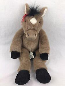 "Build A Bear Workshop Pony Horse Brown Plush Stuffed Animal 18"" Retired BAB"