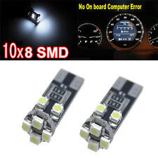 10x 8 XENON WHITE SMD 501 T10 W5W WEDGE CANBUS NO ERROR FREE SIDE LIGHT BULB