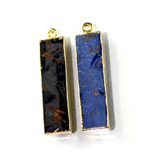 Dh2226 Gorgeous Blue Black Turquoise 24K Gold Plated Connector Making Jewelry