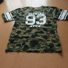 A BATHING APE BAPE x Champion Collaboration Camouflage Print 93 Logo Tee XL
