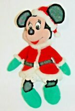 """New listing Disney Minnie Mouse Bean Bag Plush Toy Mrs. Clause Holiday Christmas 9"""" Vintage"""