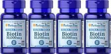 Puritan's Pride Ultra Mega Biotin 10,000 mcg 400 Sgel Skin Hair Nail + Bonus