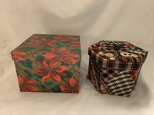 Christmas Holly Nesting, Stacking Holiday Gift Boxes – Decorative Storage Boxes