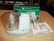 White Westinghouse Mini Food Chopper WMC100 - 1.5 Cup - Electric