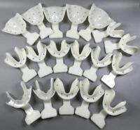 (18 PCS) Dental Edentulous Jaw Impression Trays Old Aged Frame Cut Back 100℃