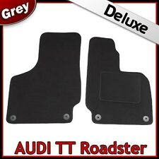 Audi TT Roadster Mk2 2006-2014 Tailored LUXURY 1300g Carpet Car Floor Mats GREY