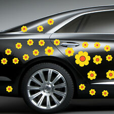 FLOWER YELLOW DECAL CAR STICKERS GRAPHICS WINDOW WALL BODY PANEL NEW