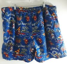 "Blue Hawaiian""Big Kahuna"" Swim Trunks Drawstring Waist Big Dogs Size XL"