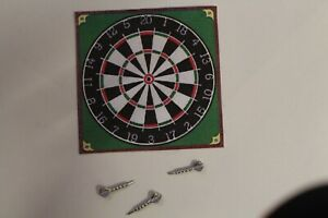 DOLLS HOUSE =   Pub Dart Board & Darts