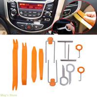 12pcs Car Radio Door Clip Panel Trim Dash Audio Install Removal Pry Kit Tools