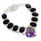 Amethyst - Mashamba 925 Sterling Silver Jewelry Handmade Necklace 17.99