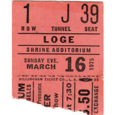 ROBIN TROWER & BABE RUTH Concert Ticket Stub LA 3/16/75 SHRINE PROCOL HARUM Rare