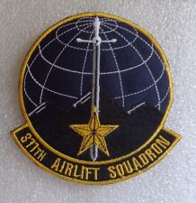 USAF FLIGHT SUIT PATCH, 311th AIRLIFT SQUADRON, NEW, GERMAN MADE