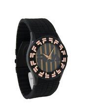 Fila FA0848-R-L Barocco Men's Round Analog Rose Gold Tone Black Silicone Watch