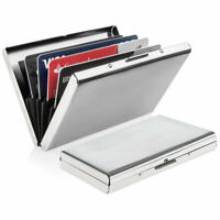 Anti-scan Stainless Steel RFID Block ID Credit Card Holder Pocket Wallet