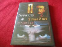 """COFFRET 2 DVD """"TROUBLE JEU / LES NERFS A VIF"""" Robert DE NIRO"""