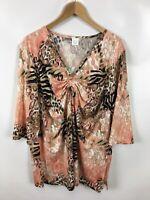 Damen Shirt, Größe 50, Mehrfarbig, sehr schickes Muster